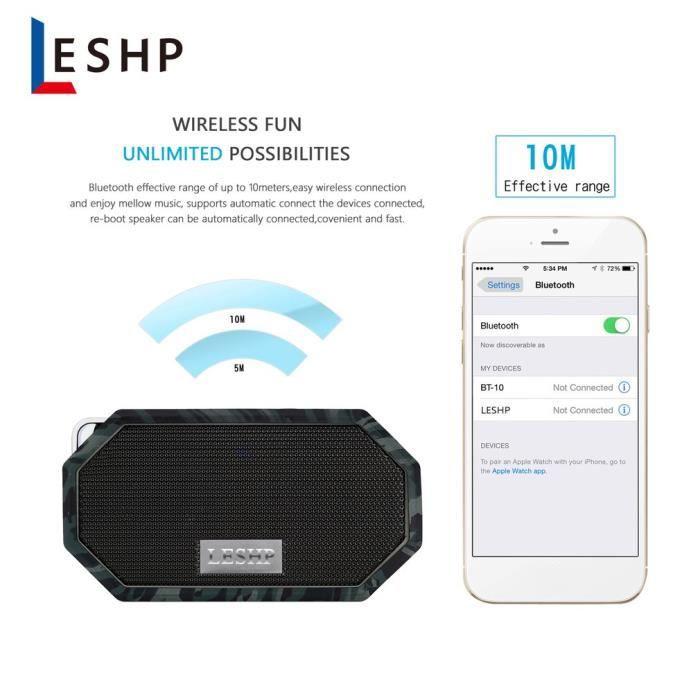 Mini Portable Haut-parleur Bluetooth Imperméable Ip66 Universel Sans Fil Pour Ordinateur Smartphone
