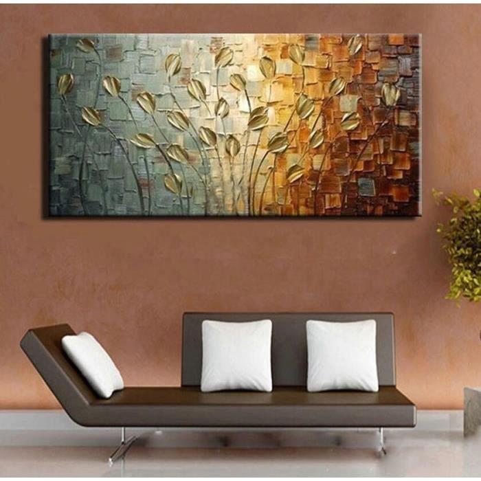 Moderne art 100 peint la main peinture l 39 huile fleur - Photo d art grand format ...
