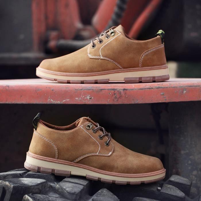 Skateshoes Homme Summer Style coréenne de skate plates hommes marron taille10