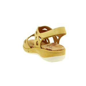 femme chaussures large confort velcro 8905 amovible 1U1ZWL confort 38 semelle Taille sandale cuir Piesanto dwxtdB