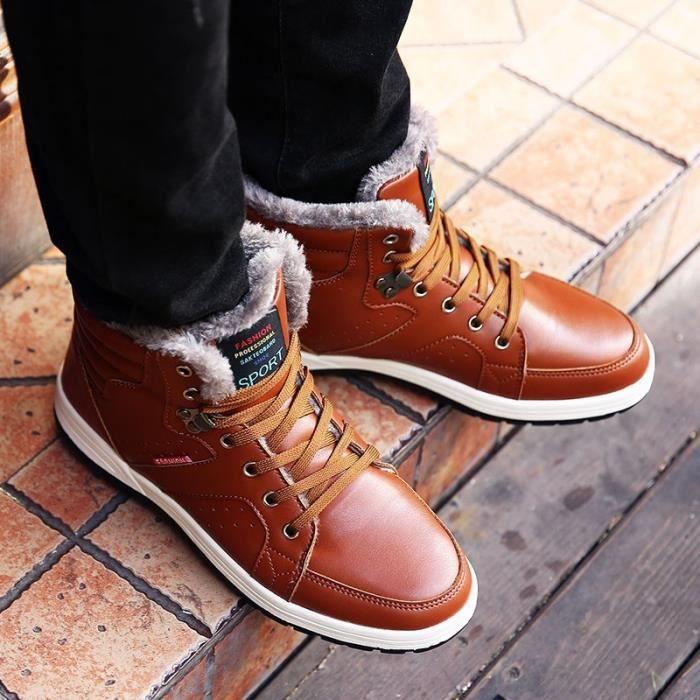 Bottes pour Hommemarron 44 Loisirs Homme hiver court conception populaires Chaussures Thicker plus Cotton Keep chaud_49841 vQxt7