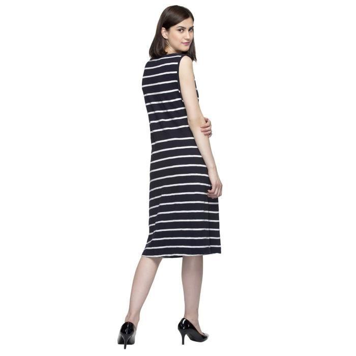 Rayé Midi robe de la femme CKP8Y Taille-34
