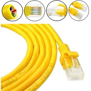 CÂBLE RÉSEAU  1M Réseau Jaune externe extérieur Câble Ethernet C