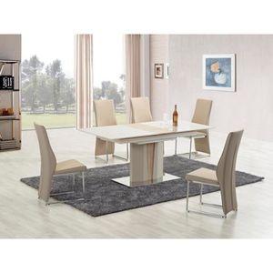 TABLE À MANGER SEULE TABLE EXTENSIBLE DESIGN 150÷180/90/76 CM - CHAMPAG
