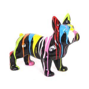 Statue deco achat vente statue deco pas cher cdiscount for Decoration chien resine