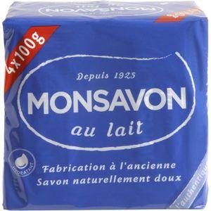 SAVON - SYNDETS MONSAVON Savon l'Authentique - Au lait - Lot de 4