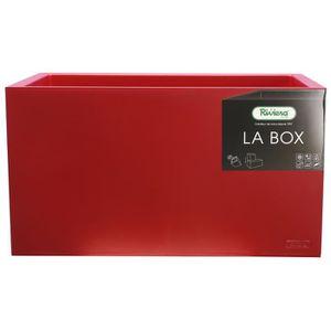 JARDINIÈRE - BAC A FLEUR RIVIERA Bac à rétention d'eau La Box - 60 x 30 cm