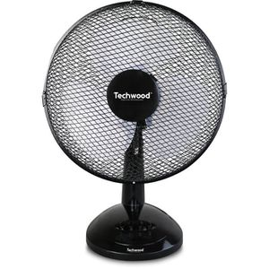 VENTILATEUR TECHWOOD Ventilateur de table - 30 cm - 3 vitesses