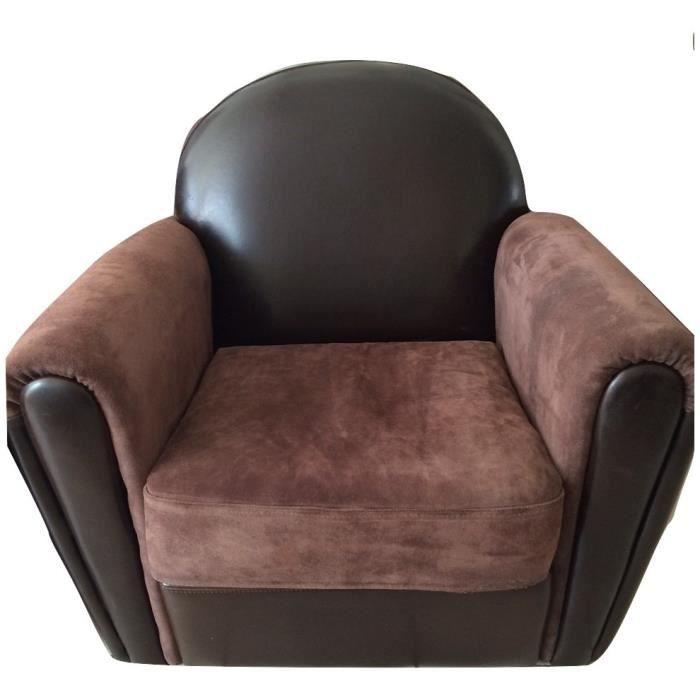 FAUTEUIL CUIR MARRON Achat Vente fauteuil Soldes d¨s le 27