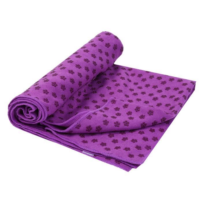 RUNACC tapis de yoga antidérapant, violet - Prix pas cher - Cdiscount