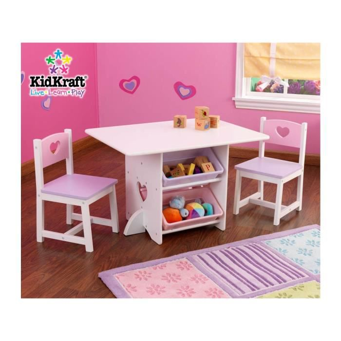 table pupitre bureau avec chaises en bois enfant motif coeur achat vente table et chaise. Black Bedroom Furniture Sets. Home Design Ideas