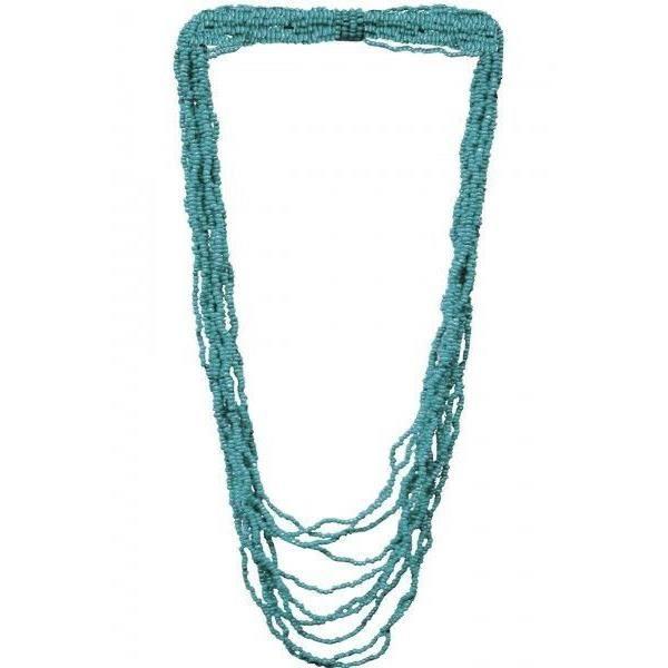 perle de rocaille bleu turquoise