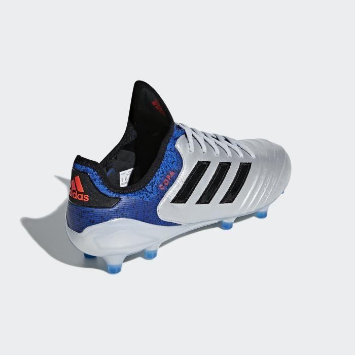 reputable site 7eea9 991aa Adidas Copa 18.1 FG, Sol ferme, Adultes, Mâle, Semelle à crampons moulés,  Noir, Argent, Uniforme