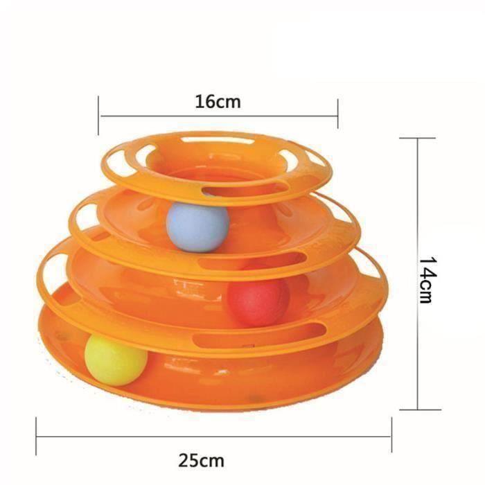 Amusement Drôle De Chat Kitty Pet Crazy Ball Interactive Toy Disque Plate Tridermique Orange - Juanstar1906752