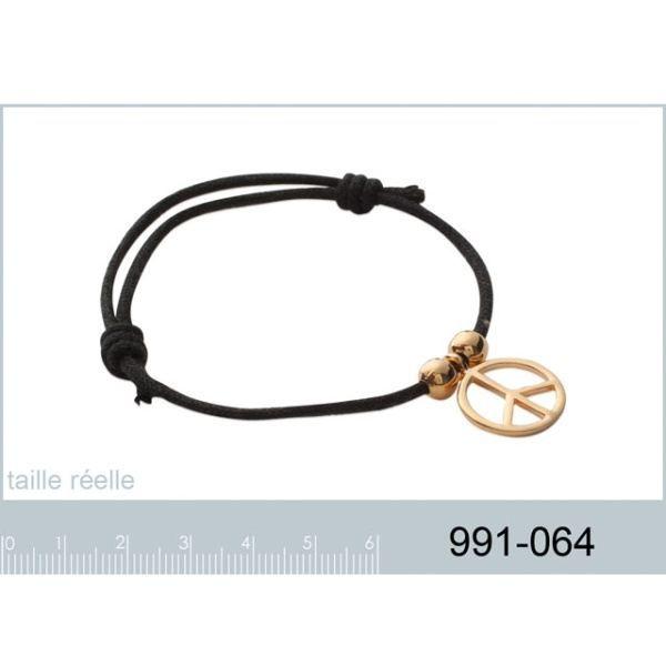 Bracelet Cordon Fin Ciré Noir et…