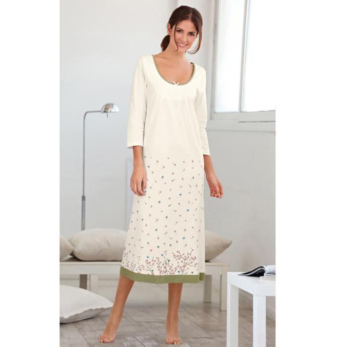 chemise de nuit longue achat vente chemise de nuit. Black Bedroom Furniture Sets. Home Design Ideas