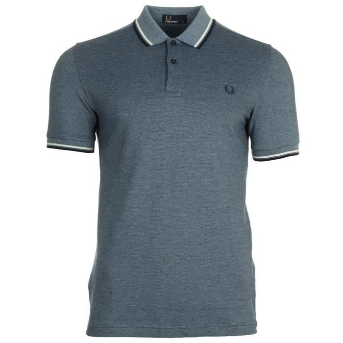 bd94322502f Polo Fred Perry Twin Tipped Fred Perry Shirt Glacier Carbon Oxford ...