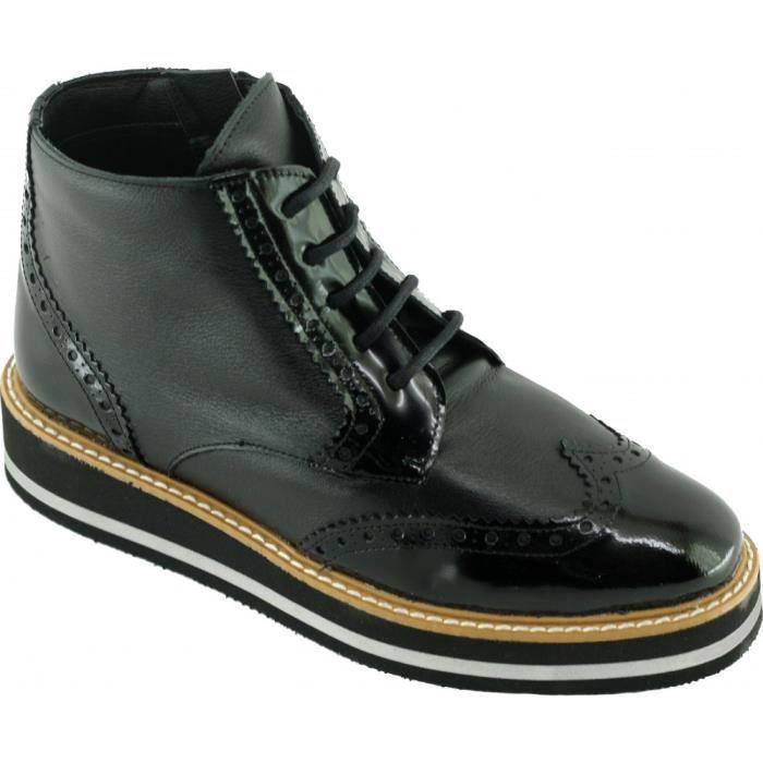 8d426e3f3 Hergotte – boots compensé lace up et semelle en mousse légère ...