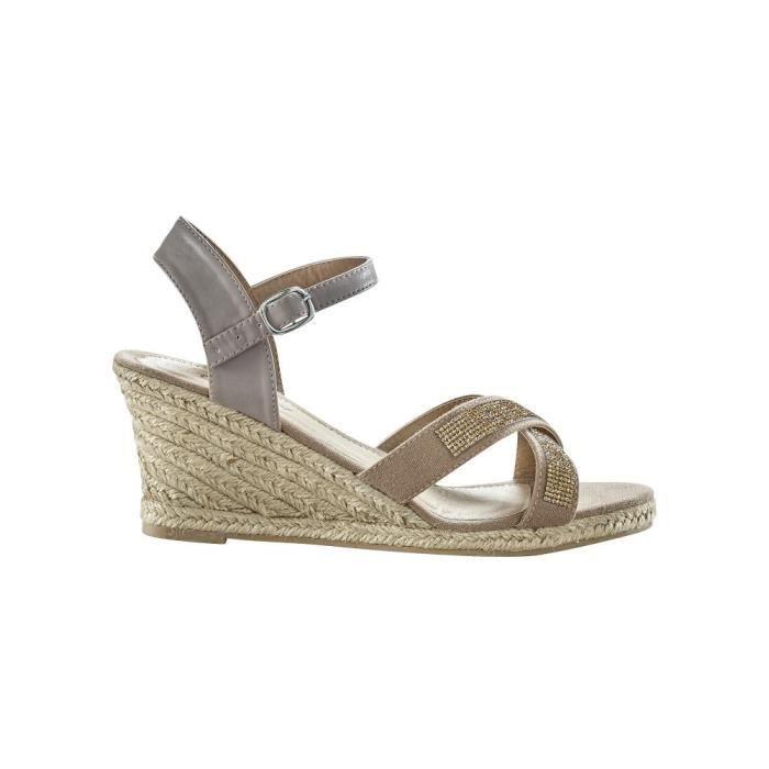 Sandales strass compensées BLANCHEPORTE
