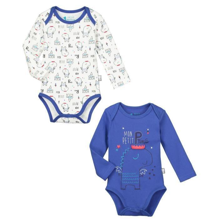 f78a5532e1a9c Lot de 2 bodies manches longues bébé garçon Petit Prince - Taille - 36 mois  (98 cm)