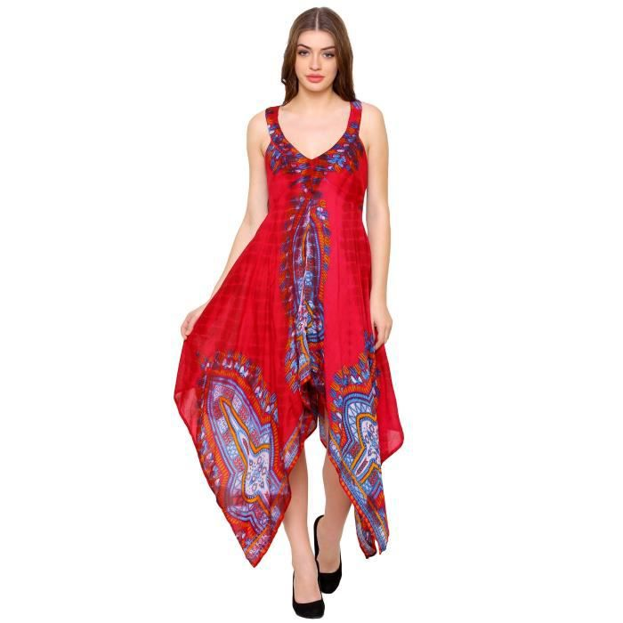 Womens Damode Printed Designer Anarkali Dress 1VAV11 Taille-34