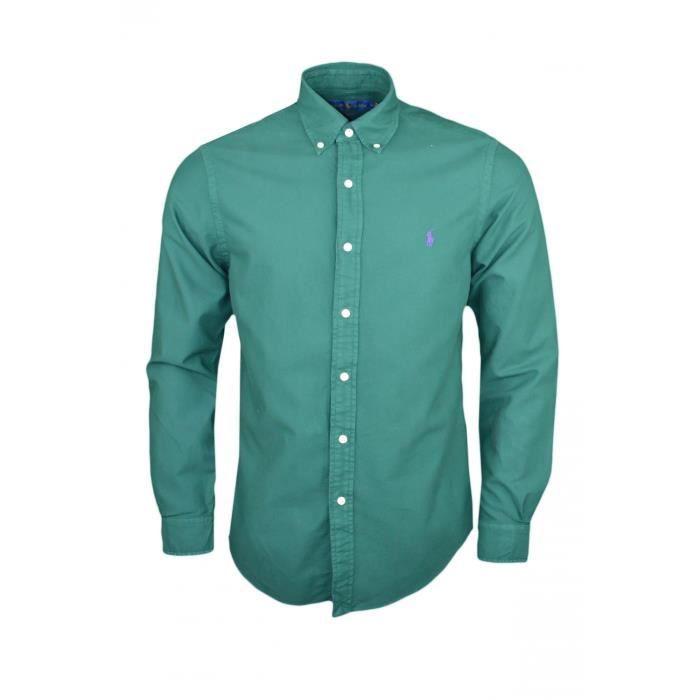Chemise oxford Ralph Lauren verte slim fit pour homme - Couleur  Vert -  Taille  S f4210004584b