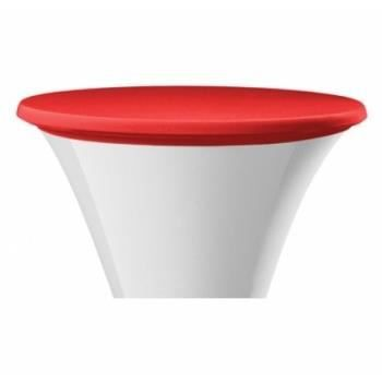 Housse de plateau pour table mange debout 80 cm rouge - Plateau de table pour defonceuse ...