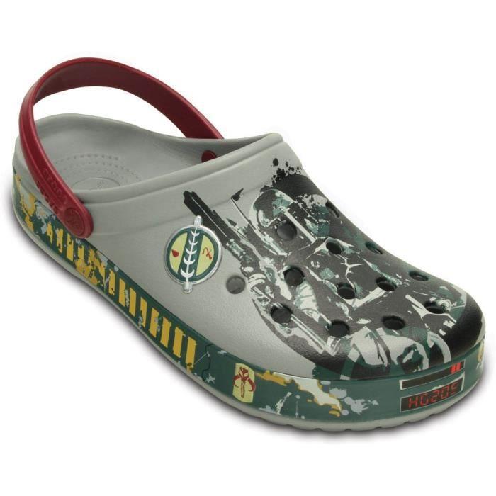 Crocs Chaussure de sabot de guerre de star wars boba fett O5DB2