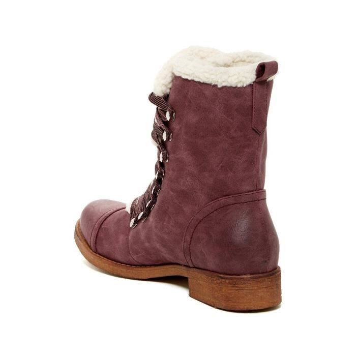 Ajaxe Womens Fashion Faux Fur Trim Boots VQ9M5 Taille-38 1-2 tY1u1SD