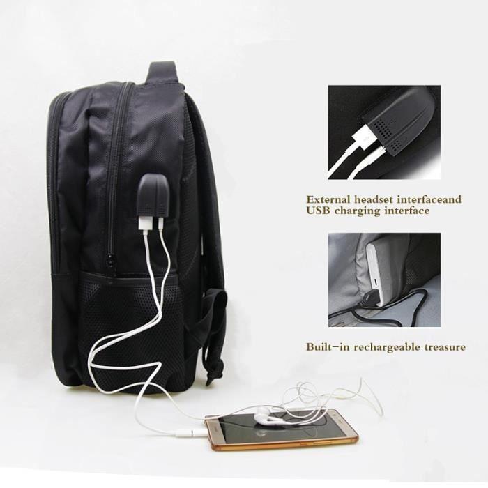 SAC A DOS Shinee Odd Jonghyun Sac à dos pour ordinateur portable Garçons Filles école Hommes Femmes USB charge à dos Cool