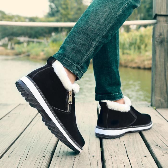 Bottes courtes Chaussures montantes Bottes originaux Chaussures pour l'automne et l'hiver Bottes chaudement Chaussures étanches