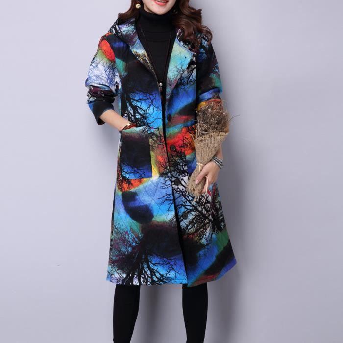 Femmes custom Rembourré Puffer Manteau Long Parka Plus Folk Veste D'hiver App9546 Taille À Coton aqwar61