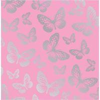 Fun4walls Papier Peint Papillons Rose Argente Achat Vente