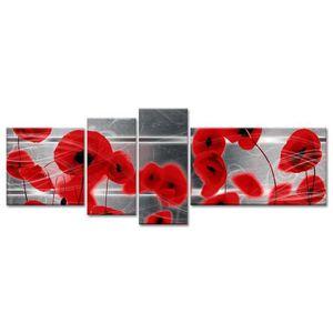 tableaux rouge achat vente tableaux rouge pas cher cdiscount. Black Bedroom Furniture Sets. Home Design Ideas