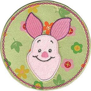 STICKERS DISNEY - Winnie lourson Porcinet fleur cercle fer