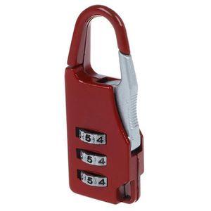 DonDon Sangle pour Bagage avec Cadenas TSA Travel Sentry dans diff/érentes Couleurs Noir//Rouge