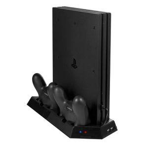 DOCK DE CHARGE MANETTE PS4 Pro Support vertical avec ventilateur de refro