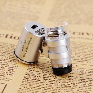 MICROSCOPE OPTIQUE Mini 60x Microscope de Poche LED Loupe Magnificati