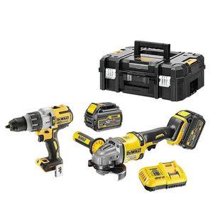 PERCEUSE DeWalt - Pack de 2 outils 18-54 V XR Li-Ion (2x6Ah
