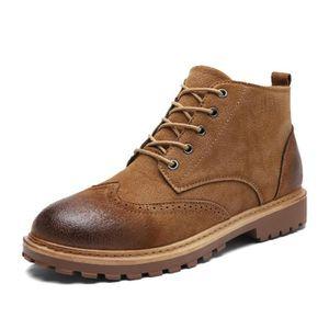 JOZSI Bottine Homme Comfortable Classique Chaussure Hommes SHT-XZ218Marron42 FkKfr