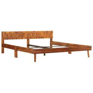 STRUCTURE DE LIT Structure de lit Adulte Cadre de lit Bois de Sesha
