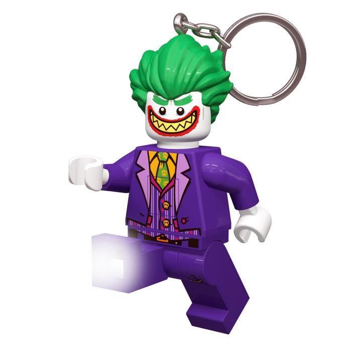 LEGO Batman Movie Porte-clés Le Joker - Visage lumineux - Lumière LED blanc - Tête mobile - 9,53 X 4,06 X 14,92 cm