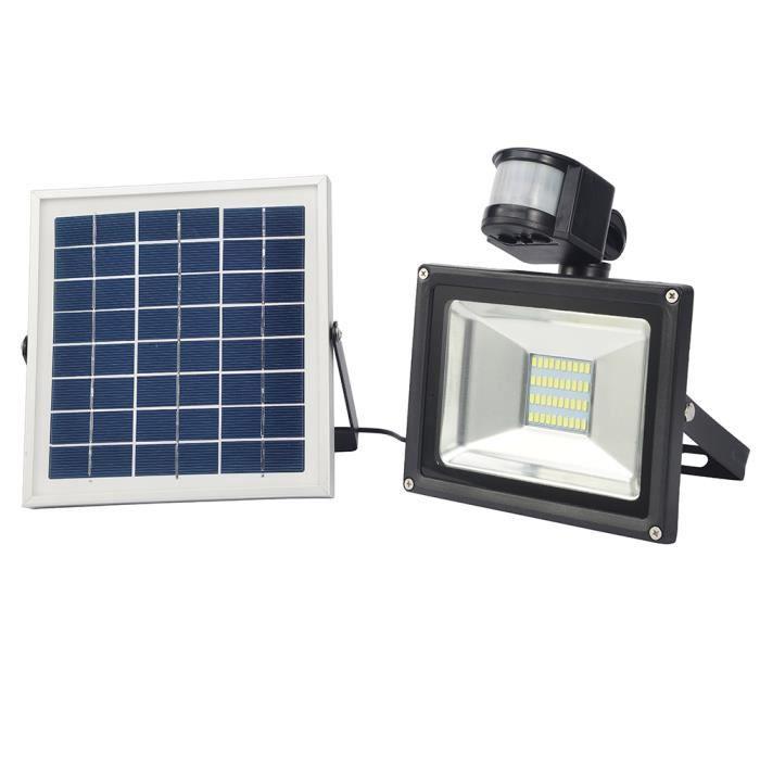 projecteur led avec detecteur de mouvement exterieur solaire