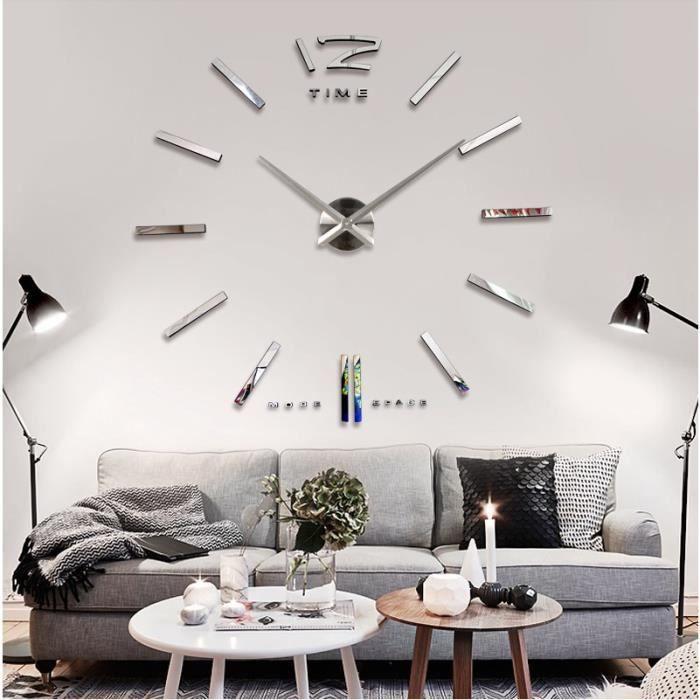 diy 3d horloge murale moderne pendule pour d coration miroir salon maison achat vente living. Black Bedroom Furniture Sets. Home Design Ideas