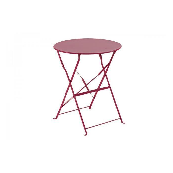 best table de jardin ronde en fer pliante ideas amazing. Black Bedroom Furniture Sets. Home Design Ideas