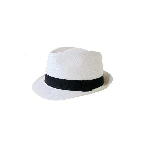 bbc702482a59 Chapeau Panama (Blanc) Taille unique Blanc - Achat   Vente chapeau ...