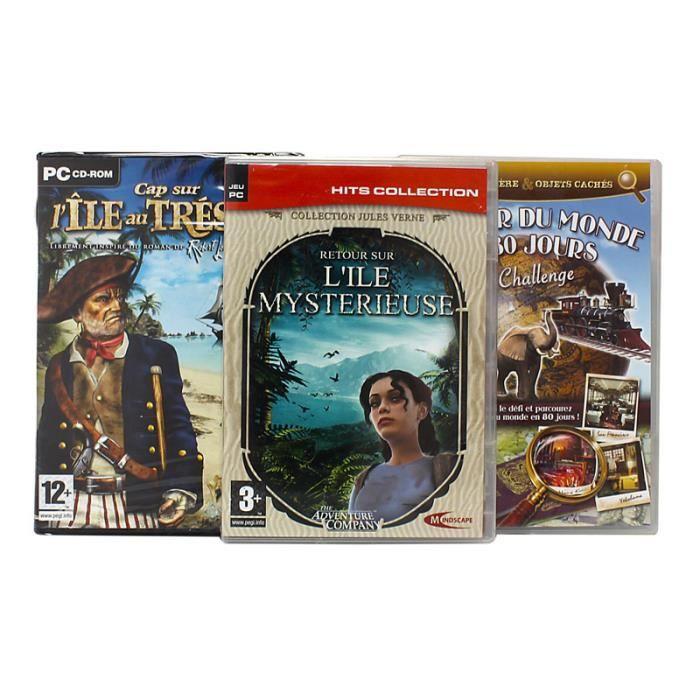 JEU PC Pack 3 jeux aventures et chasse au trésor - PC