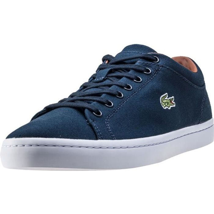 Lacoste Straightset Hommes Baskets Dark Blue - 6 UK