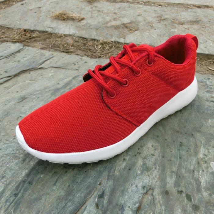 Été hommes et femmes sport loisir mouche tissées chaussures de course respirant amortisseurs anti - chaussures de sport dérapage