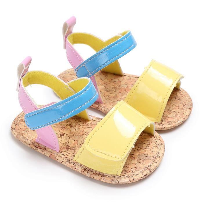 dérapants Chaussures Lit Bébé Garçon wqq0926274 Jaune Espadrilles D'été Semelles De Frankmall®bébé Doux Fille Anti zqH1HwWU